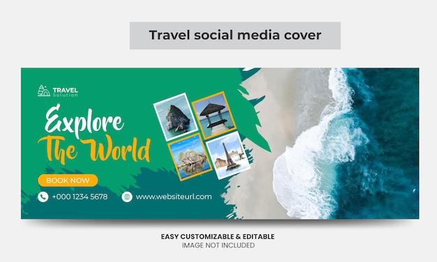 Agência de viagens facebook cover photo design turismo marketing social media cover