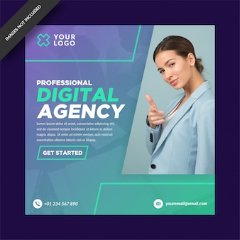 Agência digital profissional instagram post