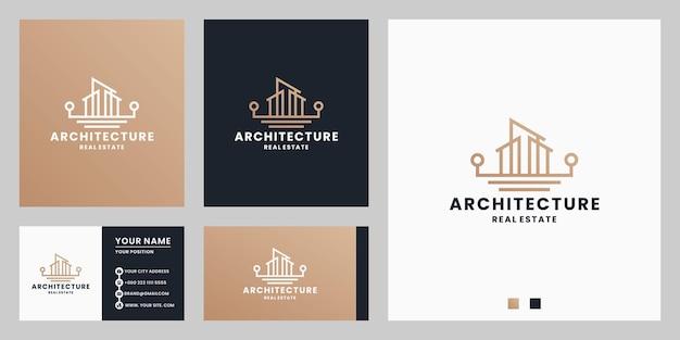 Agência imobiliária, arquitetura, design de logotipo do país dos sonhos