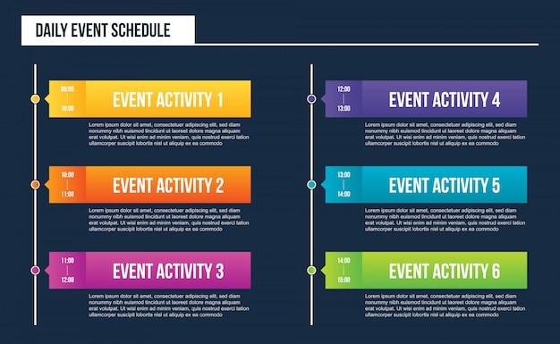Agenda de eventos diários em branco