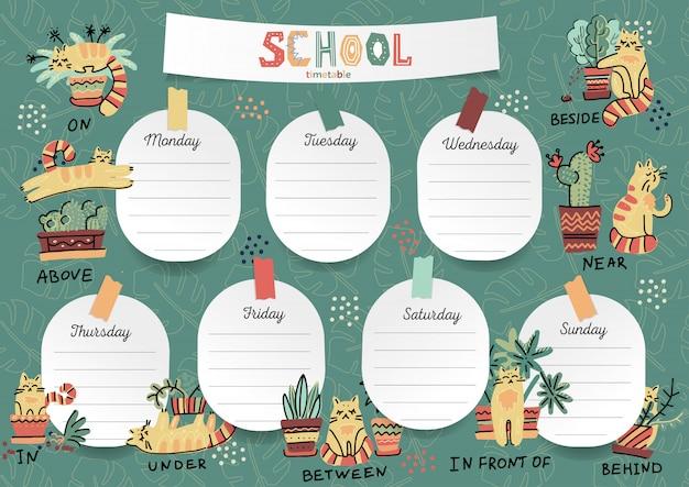 Agenda para o aluno nos adesivos de formulário com espaço para anotações