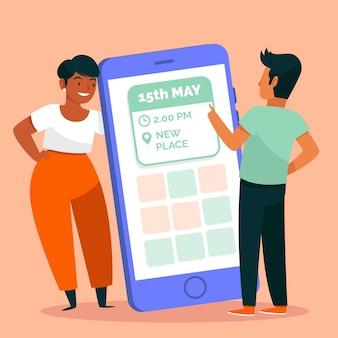 Agendar uma reunião no celular