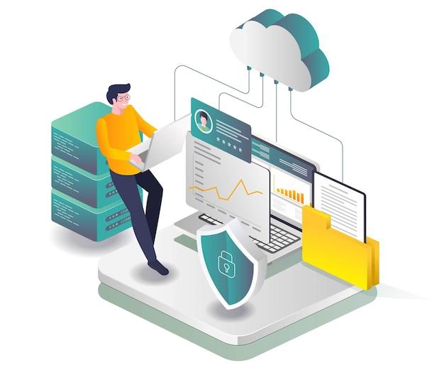 Agente de segurança de análise de dados de servidor em nuvem