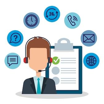 Agente de serviço ao cliente com configurações