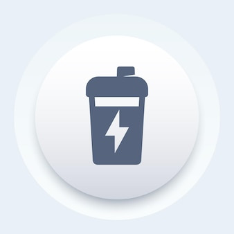Agitador esportivo, ícone de rodada de treinamento de nutrição para ginástica