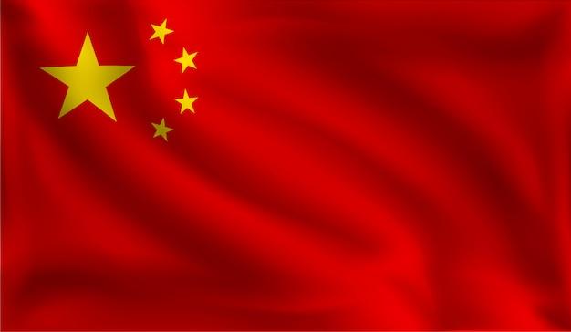 Agitando a bandeira da china, a bandeira da china