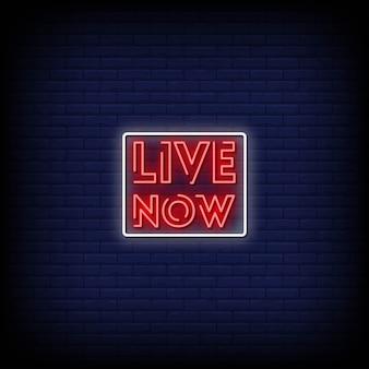 Agora ao vivo neon signs style text