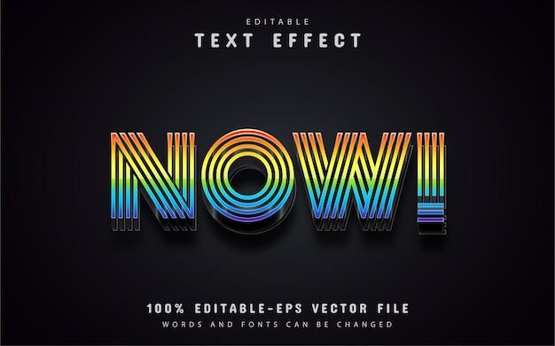 Agora, efeito de texto colorido editável