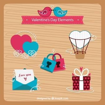 Agradáveis dos namorados elementos dia