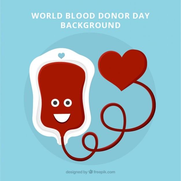Agradável mundial do doador de sangue do fundo do dia