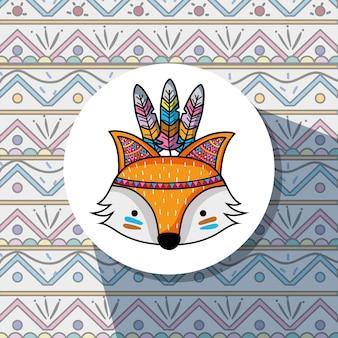 Agradável raposa tribal animal woodland