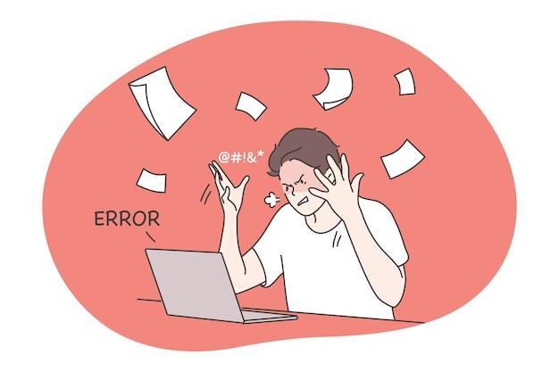 Agressivo deprimido frustrado empresário estressado empresário irritado jogando papéis no ar