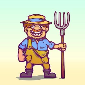 Agricultor de desenhos animados