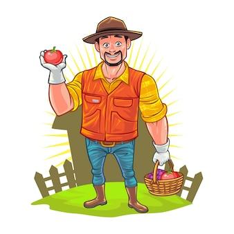 Agricultor dos desenhos animados
