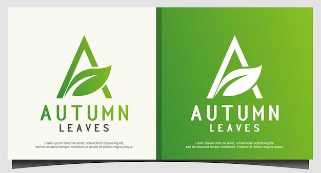 Agricultura com design de logotipo a inicial