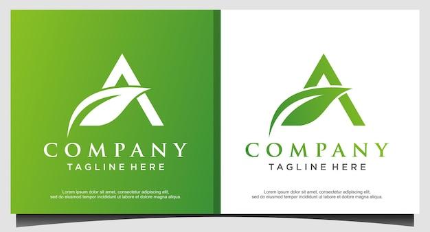 Agricultura com design de logotipo da letra a