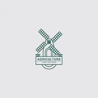 Agricultura com logotipo do moinho de vento