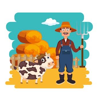 Agricultura e agricultura fardos de feno