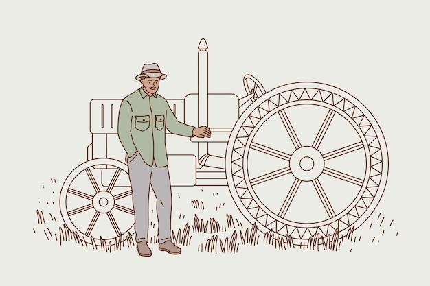 Agricultura e conceito de colheita