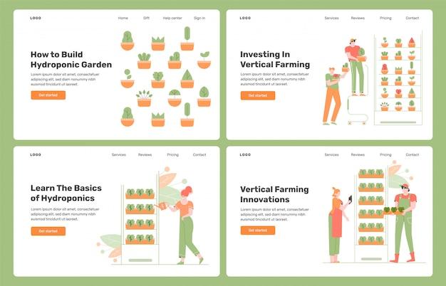 Agricultura interior vertical. cultivo em camadas empilhadas verticalmente. crescimento de plantas, técnicas de cultivo sem solo. hidroponia e aeroponia.