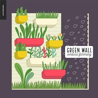 Agricultura urbana e jardinagem - agricultura vertical