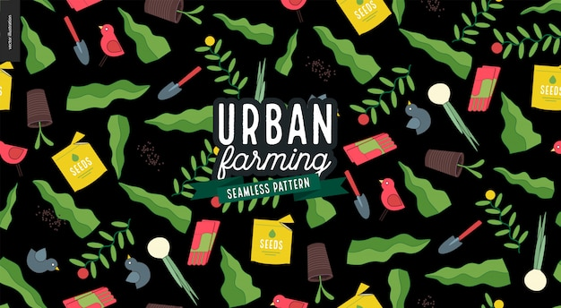 Agricultura urbana e padrão de jardinagem
