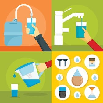 Água do filtro em casa