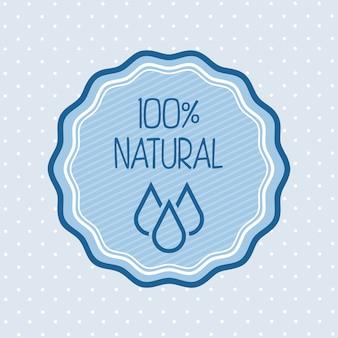 Água natural sobre ilustração vetorial de fundo azul