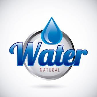 Água natural sobre ilustração vetorial de fundo cinza