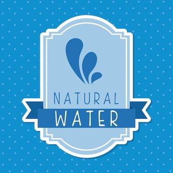 Água natural sobre ilustração vetorial de fundo pontilhada