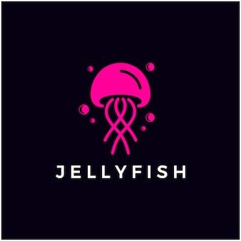 Água-viva simples logotipo minimalista ícone símbolo