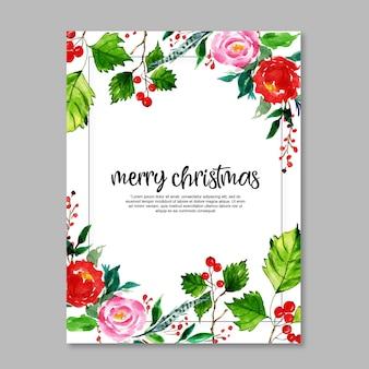 Aguarela Cartões De Natal