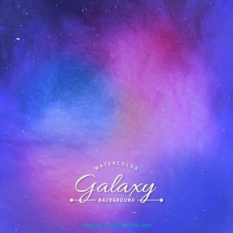 Aguarela de fundo colorido da galáxia