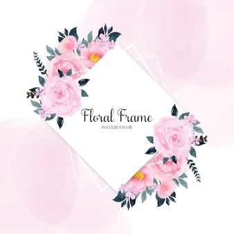Aguarela floral frame