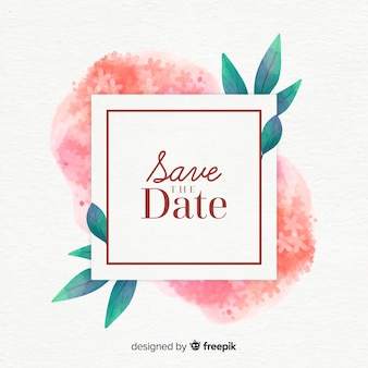 Aguarela floral salvar a data