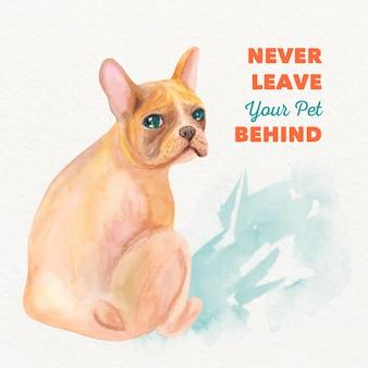 Aguarela nunca deixe seu animal de estimação para trás