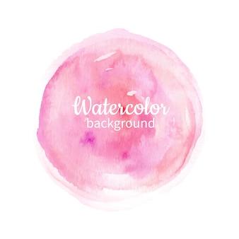 Aguarela, rosa, abstratos, mão, pintado, fundo