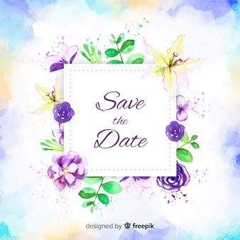 Aguarela salvar a data