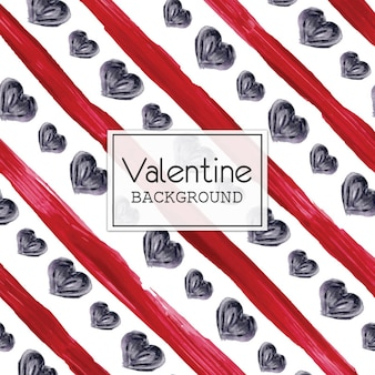 Aguarela valentine heart and lines background