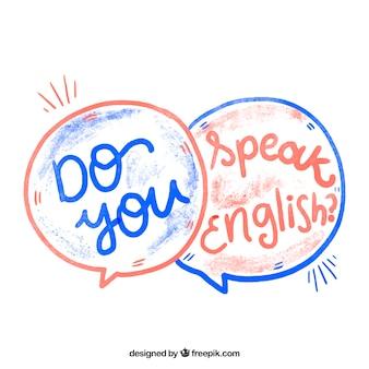 Aguarela você fala inglês?