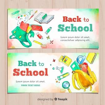 Aguarela volta para banners de escola