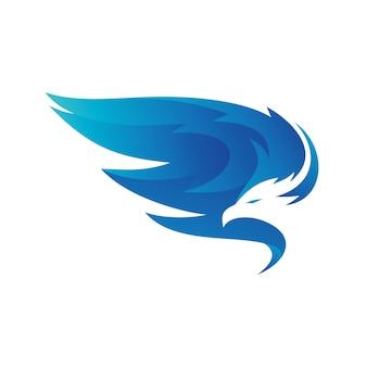 Águia asas logo vector