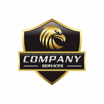 Águia de ouro no logotipo do emblema