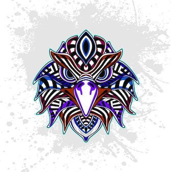 Águia de padrão decorativo abstrato