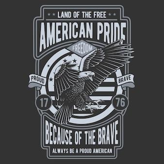 Águia do orgulho americano