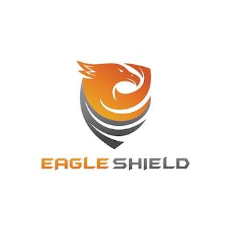 Águia escudo logo vector