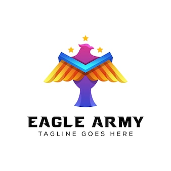 Águia exército logotipo illustratiion