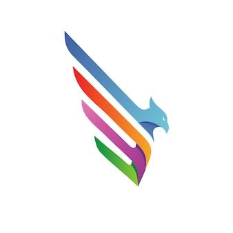 Águia logo vector
