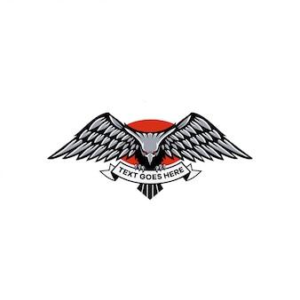 Águia, logotipo, ilustração