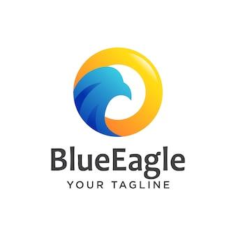 Águia logotipo moderno simples